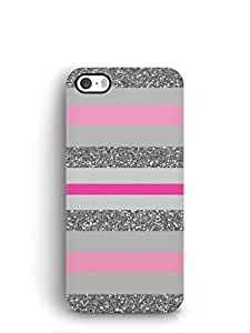Cover Affair Stripes Printed Back Cover Case for Apple iPhone 5S