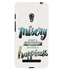 printtech Misery Happiness Back Case Cover for Asus Zenfone 5::Asus Zenfone 5 A500CG