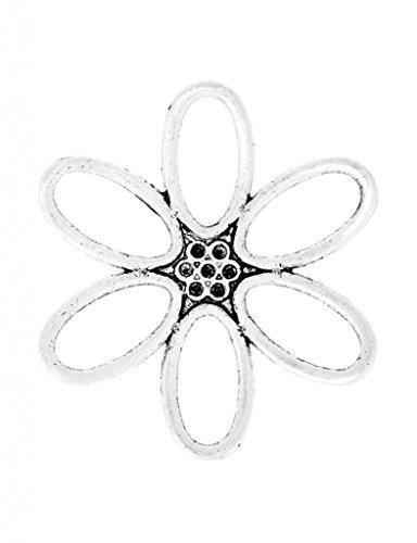 Blumen Anhänger Verbinder Ketten Verschlüsse Schmuckteile 49x49x2mm ca.8Stk. TS2547