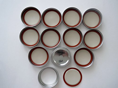 Mason Jar Standard Mouth Lids and Bands/ Lot of 12