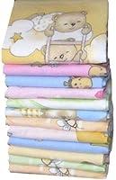 Babymajawelt® - Couches en flanelle 70/80 - 5 Paquet UNi-doux et câlin
