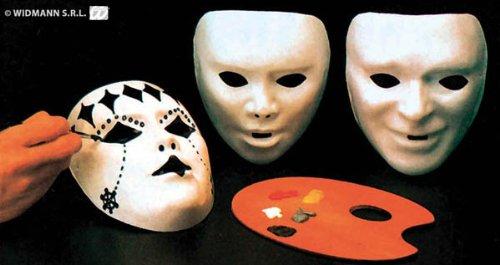 Générique - MA0110 - Lot De 12 Masques Enfant A Peindre en Pvc - Taille Unique Modèle aléatoire