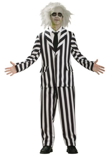 Rubies Mens New Beetlejuice Deluxe Teen Theme Party Fancy Dress Costume