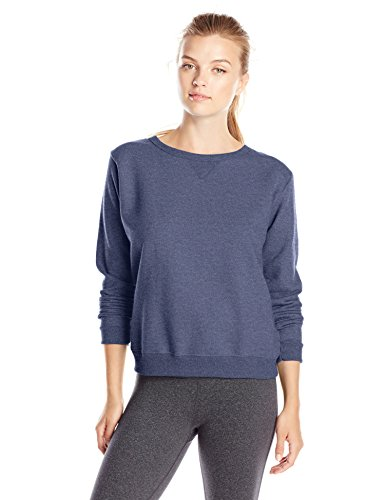 hanes-womens-v-notch-pullover-fleece-sweatshirt-navy-heather-small