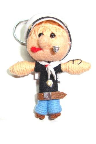 Popeye Voodoo String Doll Keyring Keychain - 1