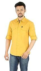 Spykar Gold Partywear Shirt (Size:L)