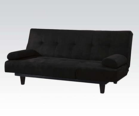 Acme 05855W-BK Modern Black Microfiber Adjustable Sectional Sofa