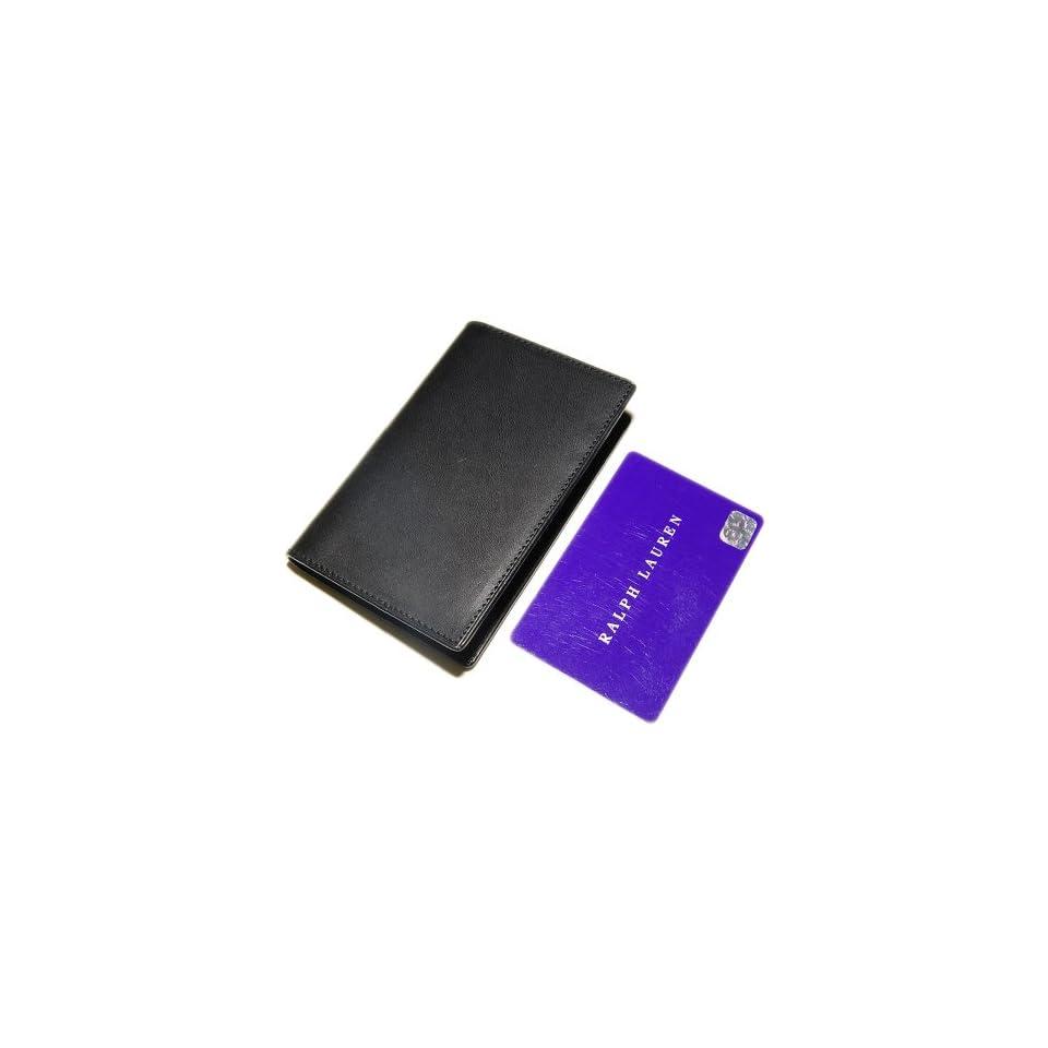 Polo Ralph Lauren Purple Label Mens Leather Credit Card Holder Wallet Black