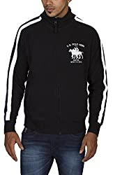 US POLO ASSOCIATION Men's Polyester Sweater (USSS0191_Black_Large)
