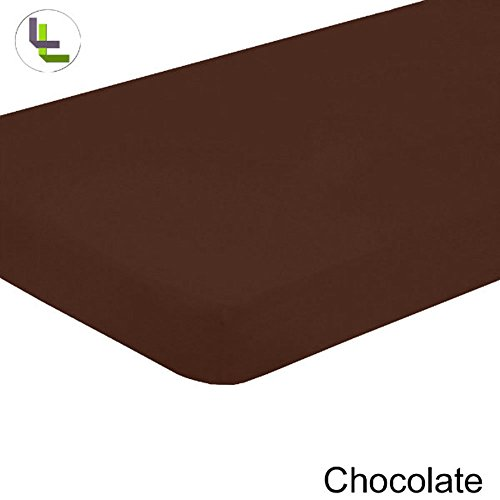 Floris Fashion High Quality Twin 800Tc 100% Egyptian Cotton Chocolate Solid Superb Finish 1Pcs Fitted-Sheets Solid(Pocket Size: 19 Inches) front-815049