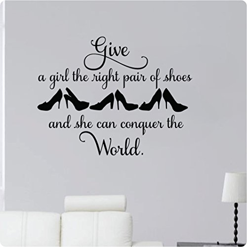 High Heel Wall Decal with Quote