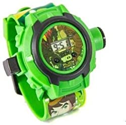 Homeshopeez Ben 10 Projector Digital Watch With 24 Images for Kids