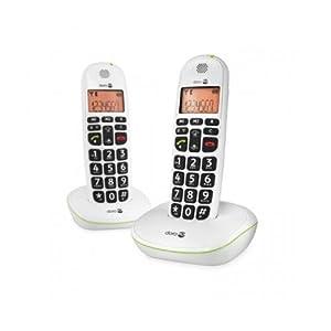 DORO PhoneEasy 100W Duo Cordless phone - White