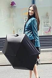 Black Starry Sky Umbrella Three Folding Classic Anti-Uv Sun/Rain Durable Automatic Umbrell