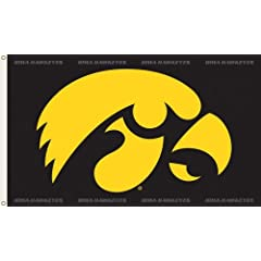 Buy NCAA Iowa Hawkeyes 3-by-5 Foot Flag Hawk Logo with Grommets by BSI