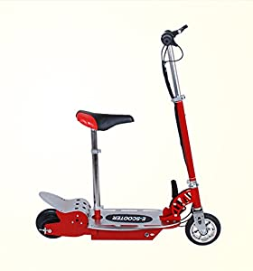 maxtra electric scooter motorized scooter bike rechargeable battery red sports. Black Bedroom Furniture Sets. Home Design Ideas