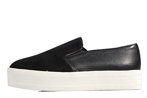 Steve Madden Buhba Sneakers Slip On Black - Scarpa Senza Lacci In Pelle