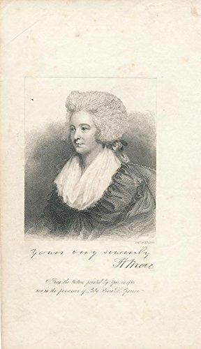 Hannah More 1820's antique portrait print