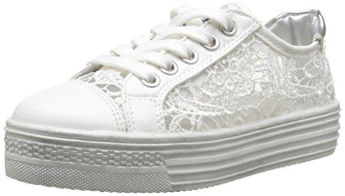 ASSO45800 - Scarpe da Ginnastica Basse Bambina , Bianco (Bianco (White)), 35