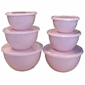 Calypso Basics, 44601, 12-Piece Enamel On Steel Bowl Set With Lids, Pink