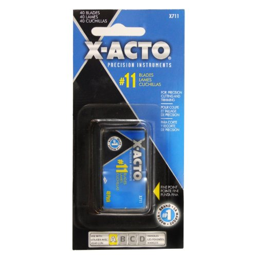 x-acto-11-classic-fine-point-replacement-blades-pack-of-40-x711