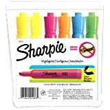 Sharpie Accent Tank-Style Highlighters, 6 Colored Highlighters (25076) (2, 6-Pack)