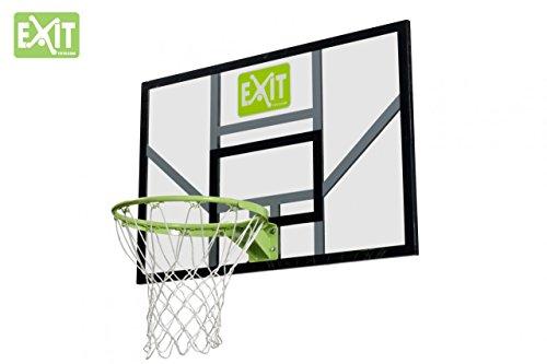 EXIT-Galaxy-BoardDunkringNetz-46403000-Basketballkorb-mit-starkemflexiblen-Ring-mit-Netz-Basketballrckwand-PolycarbonatMetall