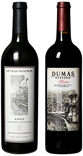 "Dumas Station ""Right Side Of The Tracks"" 06 Minnick Cab And 10 Estate Merlot Mixed Pack, 2 X 750 Ml"