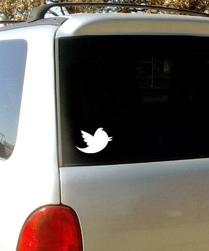 TWITTER BIRD LOGO – Vinyl Decal Sticker – 6″ – WHITE