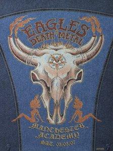 Eagles Of Death Metal Manchester 07 03/03/Denim Limited Edition Silk Screen Print-Poster di Emek originale firmato con: Eagles di morte in metallo