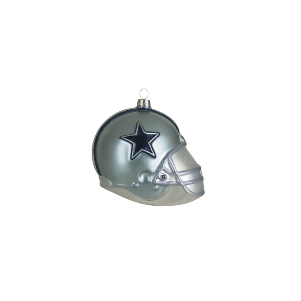 BSS   Dallas Cowboys NFL Glass Football Helmet Ornament (3