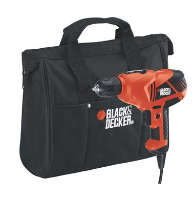 Black & Decker DR250B 5.2 amp 3/8-inch VSR Drill/Driver with Storage Bag