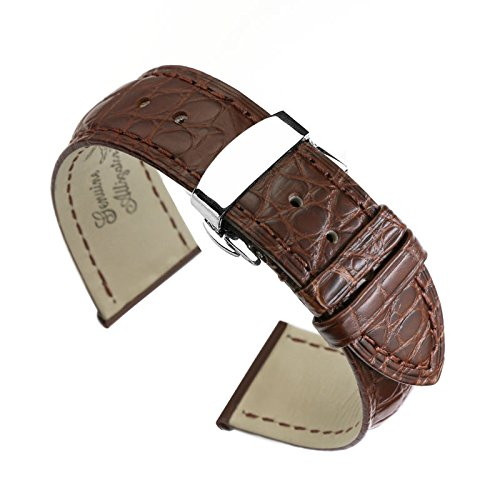 22mm-brown-luxury-genuine-crocodile-skin-leather-replacement-watch-straps-bands-for-high-end-watches