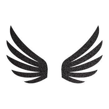Pair of Wings military helmet motorbike racing Air... Black-Metallic (11 X 7.8 inch) XR696