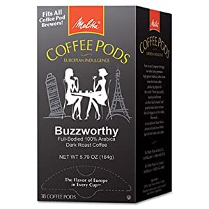 Melitta 75412 Buzzworthy 18 Pack of Coffee Pods ( Dark Roast )