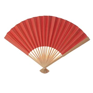 Koyal Wholesale Decorative Paper Fans, Orange Tangerine, Set of 50