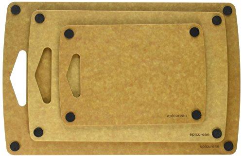 에피큐리언 논슬립 도마 3피스 세트 네츄럴 색상 Prep Series Nonslip Cutting Boards by Epicurean, 3 Piece, Natural