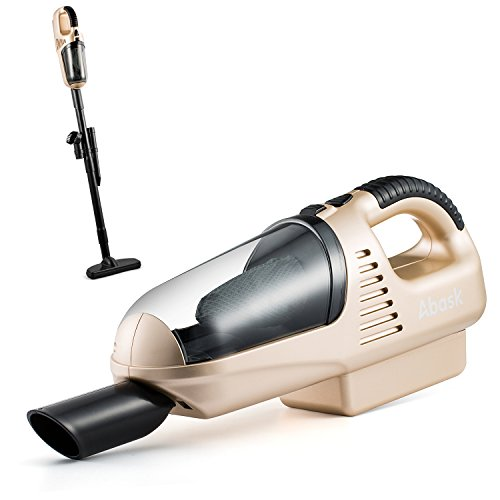 HandheldVacuumCleaner,AbaskVacuumCleanerforCarHome 7.2V60WNi-CD1800MA3.5KPA SuctionPortable Dust Buster5-in-1AccessoriesRechargeableCordlessCleaner(Gold) (Pet Hand Vaccum compare prices)