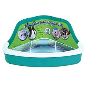 Ware Plastic Scatterless Lock-N-Litter Small Pet Pan- Colors May Vary