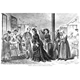 Grabado antiguo (1871) - Xilografía - Madrid.- Visita De S.M. La Reina Al Hospital De Las Incurables (20x30),...
