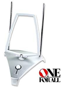 One For All SV9365 Indoor Amplified DVBT Antenna (Brushed Alum.)