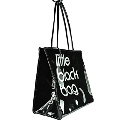 Womens Small Plastic PVC Patent Little Shopper Hand Bag