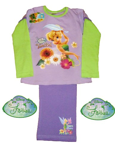 Disney Tinkerbell Tink Long Girls Pyjamas by ThePyjamaFactory