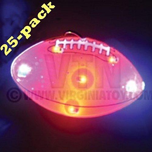 Football Flashing Blinking Light Up Body Lights Pins (25-Pack) by FlashingBlinkyLights günstig