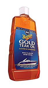 Meguiar's M4616 Marine/RV Gold Teak Oil - 16 oz.