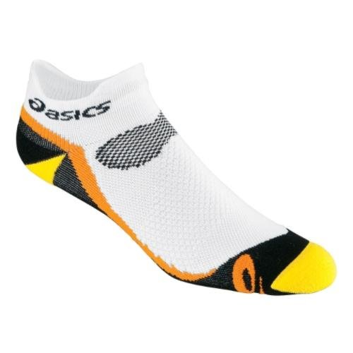 ASICS ASICS Kayano Classic Low Socks, White/Mustard/Black/Orange Peel, Large