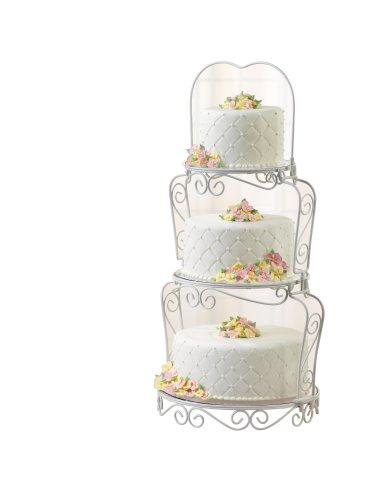Wilton Graceful Tiers Decorative Wedding Cake Dessert Stand 3 Layer