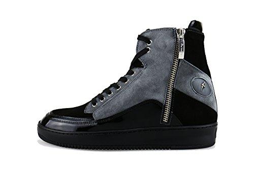 CESARE PACIOTTI 4US 36 EU sneakers nero camoscio grigio vernice AG125
