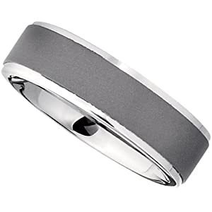 Titanium 7.0mm Raised Edge Band: Size 9.5