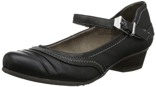 Tamaris Womens TAMARIS Closed Black Schwarz (BLACK UNI 007) Size: 5 (38 EU)